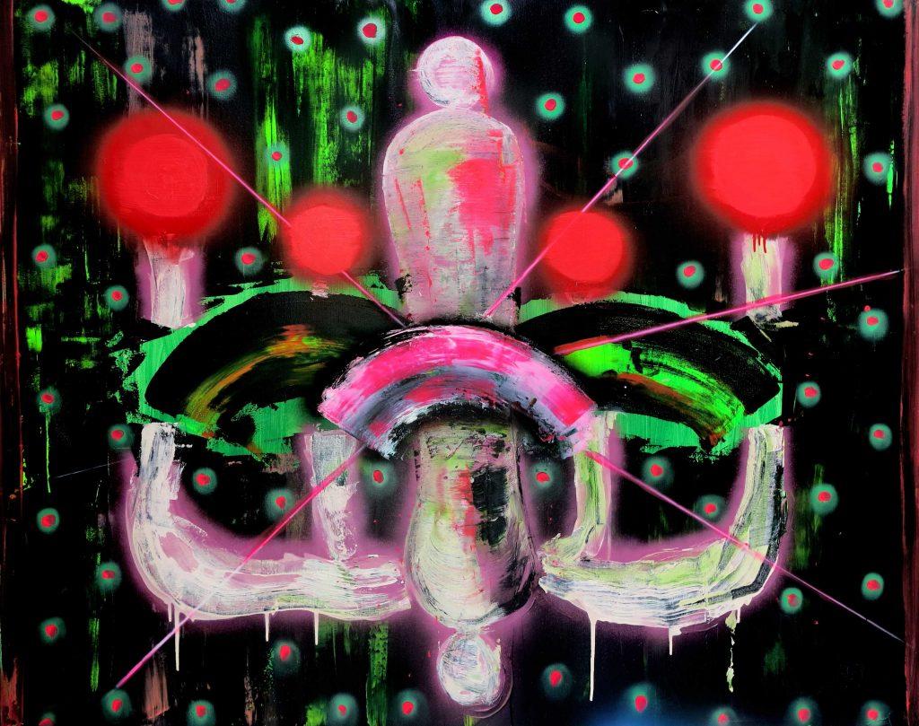 Mixed media on canvas,  150 x 100 cm