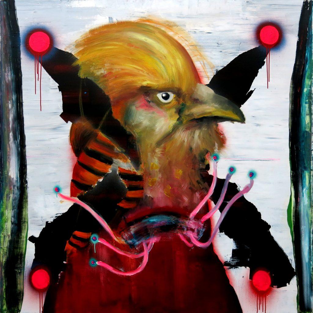 Mixed media on canvas,  150 x 150 cm