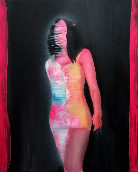 mixed media on canvas. 100 x 80 cm