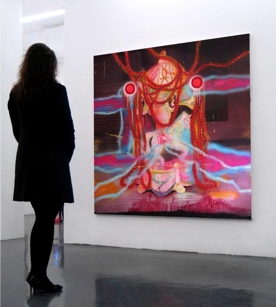 Mixed media on canvas,  200 x 200 cm