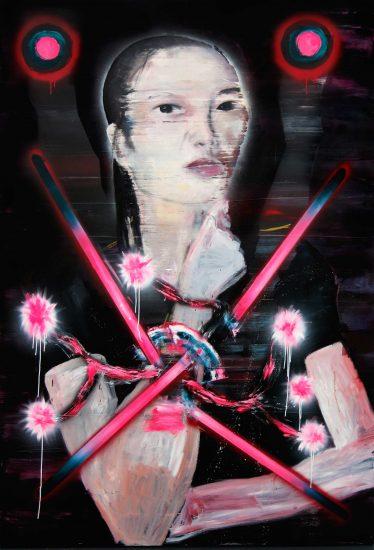 mixed media on canvas. 200 x 160 cm